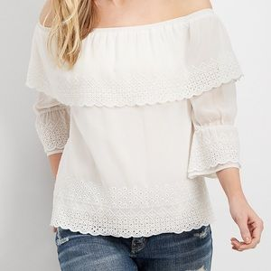 Maurice's off the shoulder top size 2!